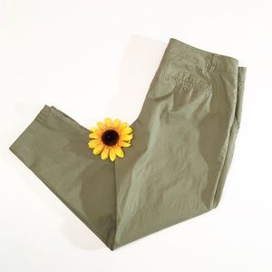 The Limited olive green cropped pants 12 R